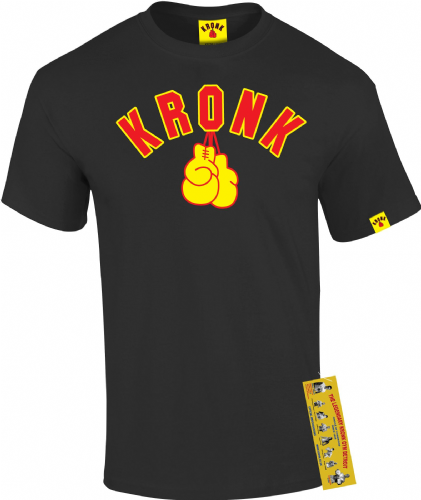 Kronk Gloves T-Shirt - Black/Yellow